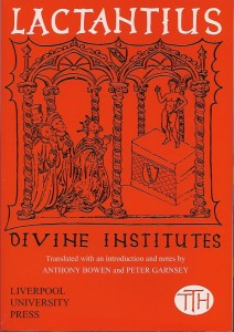 Lactantius Divine Institutes