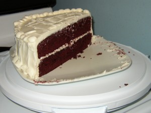 Red Velvet Cake sliced