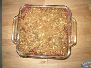 Rhubarb Crisp