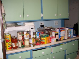 Pantry Shelf Contents